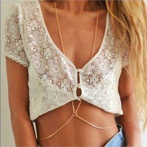 NWT Gold Body Necklace Beach & Bikini Jewelery